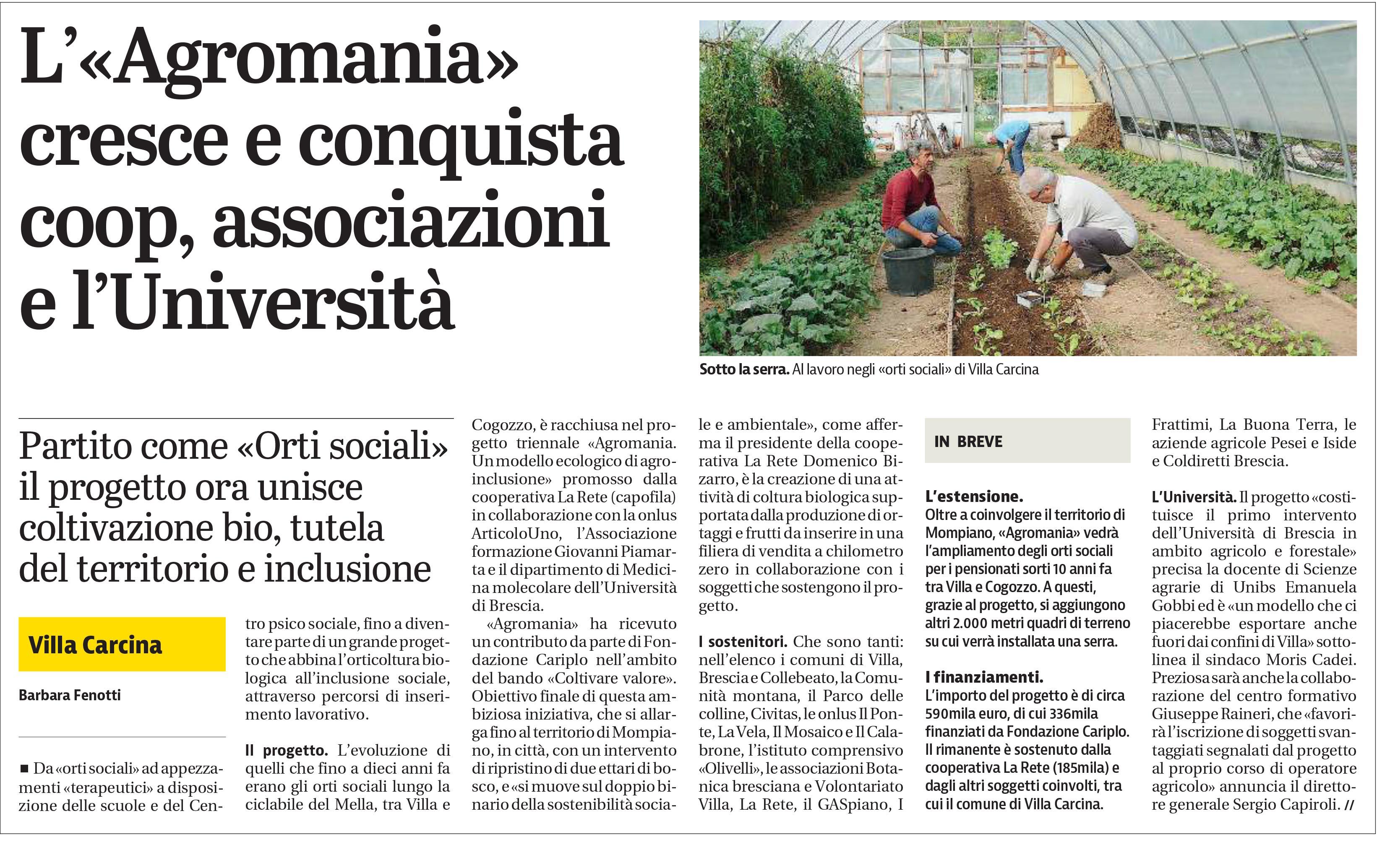 L'«Agromania» cresce e conquista coop, associazioni e l'Università - Giornale di Brescia